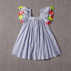By Nellystella Girls Frock Design, Kids Frocks Design, Baby Frocks Designs, Baby Dress Design, Kids Party Wear Dresses, Kids Dress Wear, Kids Gown, Dresses Kids Girl, Kids Lehenga