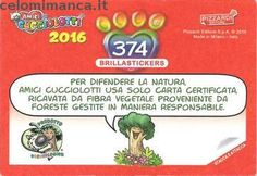 Amici Cucciolotti 2016: Retro Figurina n. 374 Argentinosaurus