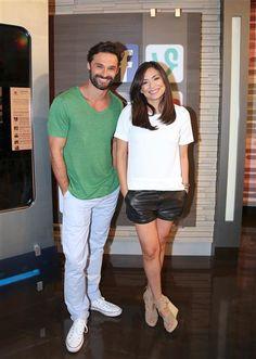 """Iván Sánchez y Ana Brenda Contreras visitan Univision para promover los últimos capítulos de su telenovela """"Lo Imperdonable"""" en Miami, Florida, el 28 de septiembre de 2015.¿Nos sigues en Facebook?"""