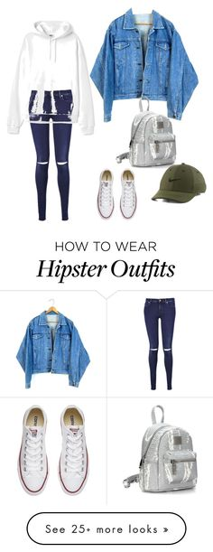 """""""girl crush"""" by dmsql5858 on Polyvore featuring 7 For All Mankind, Converse and NIKE"""