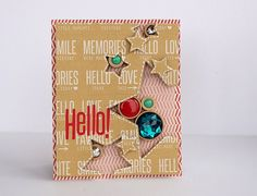 Mix the Media: Hello! card by Sarah Webb Soup Beans, Interactive Cards, Die Cut Cards, Shaker Cards, Watercolor Cards, Scrapbooking Layouts, I Card, Your Cards, Card Making