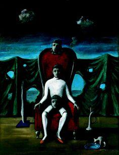 Edgar Ende Der Gaukler 1955 Oil on Canvas 90,5 x 70 cm