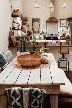 #ContemporaryLivingRoomFurniture Boho Living Room, Living Room Decor, Earthy Living Room, Living Rooms, Architecture Design, Sweet Home, Interior Minimalista, Rustic Kitchen, Earthy Kitchen