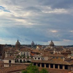 Crazy September skies in Rome. Love this rooftop view from Capitoline museums!
