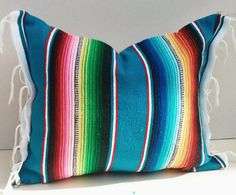 mexican blanket pillow by DaisyMaeVintageDecor on Etsy, $26.99