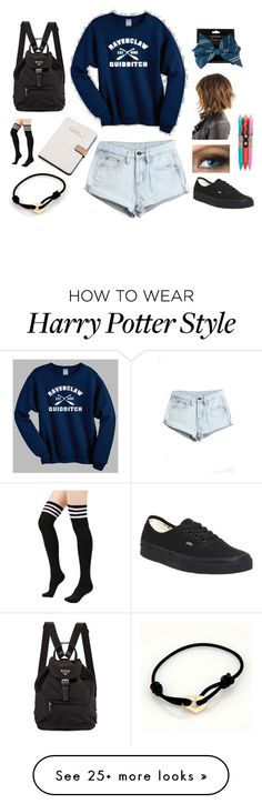 """Ravenclaw Casual #2"" by gamelicker on Polyvore featuring Mode, Calvin Klein, WithChic, Vans, Cartier, Vera Bradley, casual, harrypotter, hogwarts und comfy"
