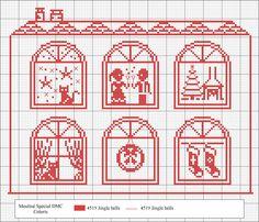 Si bordas este diagrama con la madeja del hilo Coloris color Jingle Bells (4519) ya verás como cambia el color. ¡El resultado es sorpresa! Emoticono wink  ¡Felices fiestas!