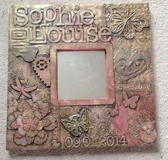 Sophie Louise a christening gift - Karen Clare's Tarmac work shop