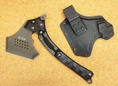 Tomoyuki Nemoto Design SKBDH 01 Sakura Tactical Hatchet Ax Ack Skydex w/Sheath | Collectibles, Tools, Hardware & Locks, Tools | eBay!