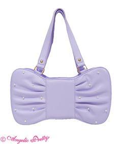 Dolly Girl Ribbon Bag - Lavender
