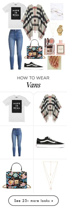 """""""Untitled #152"""" by prettyyyy on Polyvore featuring Vans, Burberry, Natalie B, Charlotte Tilbury and Gucci"""