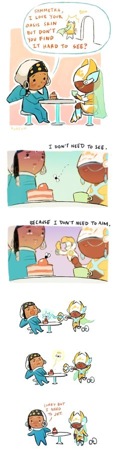 Lol I'm a Symmetra player and I LOVE HOW CUTE THIS IS
