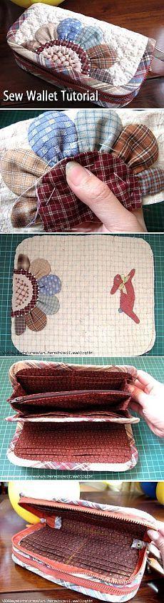 Sew wallet - a purse. DIY tutorial. Sew the purse - a purse. ~ Http://www.handmadiya.com/2011/04/blog-post_177.html