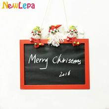 2016 Natal Papai Noel Boneco De Madeira Lousa Foto Quadro de Decoração Para Casa Da Decoracao De Adornos Navidad Natal alishoppbrasil