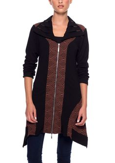 On ideel: DZHAVAEL COUTURE Long Sleeve Zip Front Knit Jacket