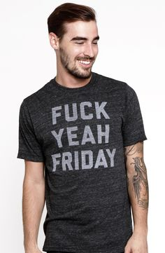 #TGIF tee - I can just imagine rocking up to casual Friday at work with this t-shirt.... Not! Ha!