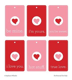 So whether it's a bag of candy for a friend or a little package o' love for your significant other, take a few minutes and download these tags to add a little bit of sweetness to any Valentine's Day project :)