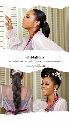Two bridal hairstyles perfect for the ceremony & reception Bridal Hair Inspiration, Savannah, Reception, Hair Styles, Wedding, Hair Plait Styles, Valentines Day Weddings, Hair Makeup, Hairdos