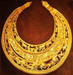 Golden Pectoral, mid 4th сentury BCE. Ukraine.