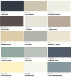 Benjamin Moore whole house paint color scheme