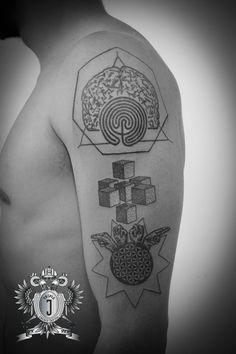 Home – Triple-J Energy Tattoo – Tattoostudio Mondsee Tattoo Studio, Energy Tattoo, Triple J, Labyrinth, Star Wars, Dot Work, Tattoos, Girls, Brain