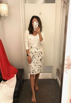 Office Outfits For Ladies, Summer Work Outfits, Casual Work Outfits, Modest Outfits, H M Outfits, Casual Jeans, Modest Wear, Summer Fashions, Woman Outfits