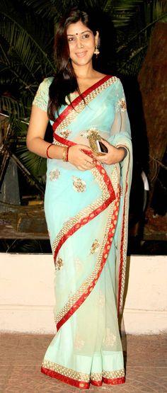 Sakshi Tanwar at Ekta Kapoor's Diwali bash. #Bollywood #Fashion #Style #Beauty