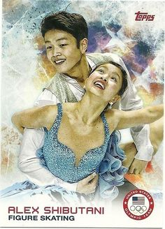 2014 Topps Winter Olympics Team ALEX SHIBUTANI # 76 Figure Skating - Set Break