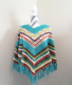 Crochet Stitches Design Fall Crochet Poncho By Brittany - Free Crochet Pattern - (bhookedcrochet) - Join me in the most anticipated B.hooked Crochet project of the year, the Fall Poncho Crochet Along, beginning November Crochet Scarves, Crochet Shawl, Crochet Clothes, Crochet Stitches, Crochet Hooks, Crochet Patterns, Scarf Patterns, Knitted Shawls, Crochet Vests