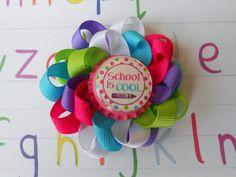 School is cool back to school loopy flower by AllThingsGirlyBows,