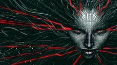 Shodan - red/grey (System Shock) by JaxxTraxx.deviantart.com on @DeviantArt