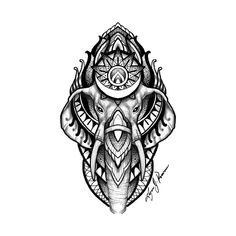 Check out this awesome 'Elephant' design on Geometric Elephant Tattoo, Mandala Elephant Tattoo, Geometric Tattoos Men, Elephant Tattoo Design, Elephant Tattoos, Elephant Design, Full Arm Tattoos, Leg Tattoos, Arm Band Tattoo