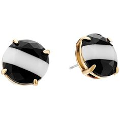 Kate Spade New York The Right Stripe Stud Earrings Earring ($58) ❤ liked on Polyvore featuring jewelry, earrings, black, post earrings, stud earring set, kate spade earrings, black jewelry and black earrings
