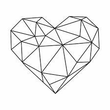 Tattoo geometric heart ideas 16 ideas – Graffiti World Geometric Heart Tattoo, Geometric Drawing, Geometric Art, Origami Fashion, Origami Tattoo, Origami Owl, Graffiti Cartoons, 3d Pen, Pencil Art Drawings