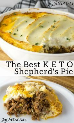 Pie Recipe with Cauliflower Topping - Low Carb Keto Gluten-Free Grain-Free THM S - This Shepherd's Pie Recipe with Cauliflower Topping is an easy low-carb casserole that the whole family will love. Ketogenic Diet Meal Plan, Ketogenic Diet For Beginners, Diet Plan Menu, Diet Meal Plans, Ketogenic Recipes, Low Carb Recipes, Diet Recipes, Low Carb Keto, Food Plan