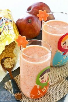 Carrot, Pear, and Flax Smoothie with a dose of Omega-3 fatty acids, lignans, fiber, and protein. | Roti n Rice