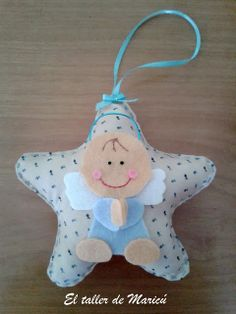 Baby Crafts, Felt Crafts, Crafts For Kids, Handmade Angels, Baby Shawer, Felt Quiet Books, Boy Baptism, Christmas Crafts, Christmas Ornaments