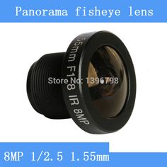8MP 1/2.5 HD 1.55mm CCTV lenses fisheye panoramic surveillance camera 185 degrees wide-angle infrared lens M12 lens thread