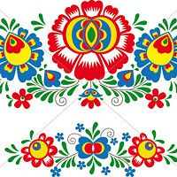 Hungarian Floral Folk Pattern - Kaloscai Embroidery With Flowers And Paprika Stock Illustration - Illustration of culture, frame: 50410139 Mexican Embroidery, Folk Embroidery, Learn Embroidery, Embroidery Patterns, Machine Embroidery, Bordado Popular, Stock Foto, Bird Patterns, Motif Floral