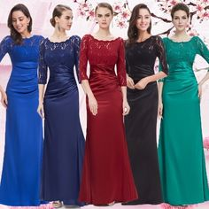 US Bridesmaid Dresses Long Lace Formal Evening Party Ball Gown 09882 Ever-Pretty Cheap Bridesmaid Dresses, Lace Bridesmaid Dresses, Long Wedding Dresses, Prom Party Dresses, Formal Evening Dresses, Party Gowns, Dress Wedding, Formal Prom, Dress Formal