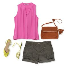 super cute for summer, like the colors and neck line. Don't like the cuffed bottom of the shorts.