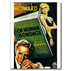 Of Human Bondage Postcard Davis & Howard, impeccable! Also excellent in The Petrified Forest with Bogart, his debut film