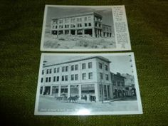 John S Cook & Co Bank Ghost Town Rhyolite Nevada 2 Photo Postcards