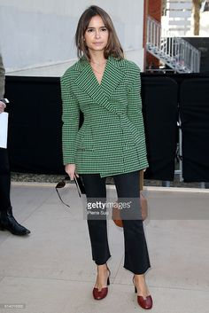 Miroslava Duma arrives at the Celine show as part of the Paris Fashion Week Womenswear Fall/Winter 2016/2017 on March 6, 2016 in Paris, France.