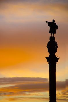 "Monument a Colom (Columbus Monument), Barcelona, Catalonia. (1880s) ""Columbus"" by Bernd Mundt, via 500px"
