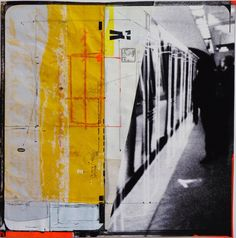 """""""Subway, 2012"""" by Elise Oudin Gilles  - Photo and mixed technique on paper  #Tube #Subway #Plateform"""