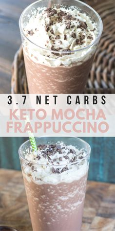 You won't believe how delicious this low carb Keto Mocha Frappuccino is! At just net carbs this keto Starbucks knockoff will be a new favorite! Homemade Pumpkin Spice Latte, Pumpkin Spiced Latte Recipe, Pumpkin Spice Syrup, Spiced Coffee, Coffee Coffee, Coffee Beans, Chocolate Frappuccino Recipe, Mocha Frappuccino, Homemade Frappuccino