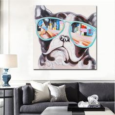 Modern wall Prints - Home Decor Canvas Painting Cute Animal Dog Wall Art Picture Canvas Prints Modern Wall Pictures for Living Room No Frame. Canvas Wall Decor, Canvas Artwork, Canvas Art Prints, Wall Prints, Cheap Wall Art, Wall Art For Sale, Wall Art Pictures, Canvas Pictures, Dog Pictures
