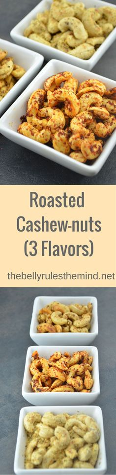 Here is an easy snack idea to serve your guests as holiday seasons starts .You will love all the 3 bold flavors of these Roasted cashew-nuts. http://thebellyrulesthemind.net