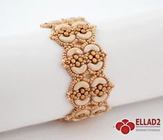 Tutorial Fina Bracelet - Beading Tutorial with Arcos and Minos beads, Instant download, Ellad2